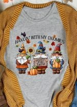 Hangin With My Gnomies Happy Fall Folks Pumpkin Sunflower For Lovers T Shirt Hoodie Sweater