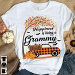 Happiness Is Being A Grammy Fall Pick Up Maple Leaf For Lovers T Shirt Hoodie Sweater