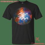 Aquarius Zodiac Astrology Sign Galaxy Art T-Shirt