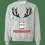 Budweiser Reinbeer Funny Beer Reindeer Christmas Sweatshirt