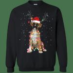 Christmas Lights Boxer Dog Funny Xmas Sweatshirt