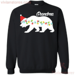 Bear Grandma Santa Lights Family Group Sweatshirt