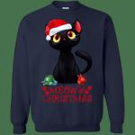 Black Cat Meowy This is My Pajama Christmas Sweatshirt