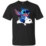 A Friend For Life Stitch Riding Snoopy Funny T-Shirt-Vivianstores
