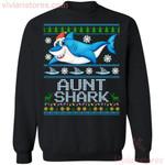 Aunt Shark Family Ugly Sweater Style Christmas Sweatshirt Funny Gift MT10