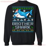 Brother Shark Family Ugly Sweater Style Christmas Sweatshirt Funny Gift MT10