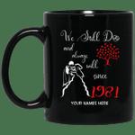1981 Wedding Anniversary Custom Name Mug We Still Do Black Mug MT01-Vivianstores