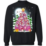 Christmas Sweater Disney Cheshire Cat Christmas Tree Xmas Shirt MT11