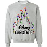 Christmas Sweater Disney Castle Christmas Lights Xmas Shirt PT12