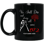 1972 Wedding Anniversary Custom Name Mug We Still Do Black Mug MT01-Vivianstores