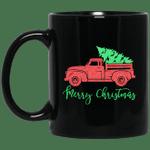 Christmas Tree Old Fashioned Truck Raglan Merry Christmas Mug-Vivianstores