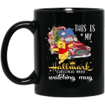 This is my Hallmark Christmas Movie Watching Pooh Piglet And Eeyore Mug Lovely Gift VA10-Vivianstores