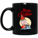 Merry Christmas Pig Cute Cooking For Christmas Mug-Vivianstores