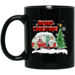 Happy Camper Camping Christmas Pajamas Funny Mug-Vivianstores