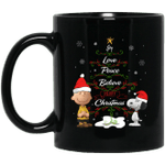 Snoopy & Peanut - Joy Love Peace Believe Merry Christmas Mug-Vivianstores