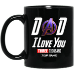 Dad I Love You 3000 Personalize Mug Gift To Dad On Father day LT05-Vivianstores