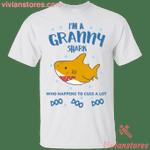 I'm A Granny Shark Doo Doo Doo Who Happens To Cuss A Lot T-Shirt-Vivianstores