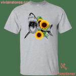 Shark Sunflower T-Shirt-Vivianstores