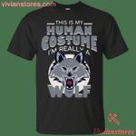 I'm Really A Wolf Halloween Costume T-Shirt-Vivianstores