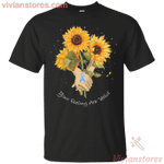 Prostate Cancer Awareness Ribbon Sunflower Tee-Vivianstores