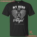 My Hero Is Now My Angel Brain Cancer T-shirt-Vivianstores
