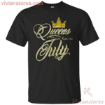 Queens Are Born In July Golden T-Shirt-Vivianstores
