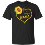 Happiness Is Being A Mama Sunflower T-shirt Mothers Day Gift Idea HA04-Vivianstores