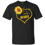 Happiness Is Being A Mimi Sunflower T-shirt Mothers Gift Idea HA04-Vivianstores