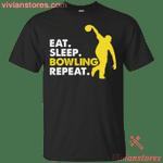 Eat Sleep Bowling Repeat Sports Team T-Shirt KA12