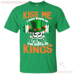 Kiss Me I Was Born In September St Patrick's Day T-Shirt LT12