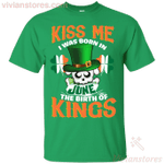 Kiss Me I Was Born In June St Patrick's Day T-Shirt LT12