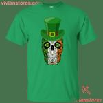 Sugar Skull Leprechaun St Patricks Day Irish T-Shirt KA01