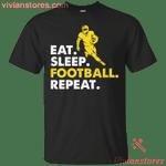 Eat Sleep Football Repeat Sports Team T-Shirt KA12