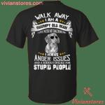 I Am A Grumpy Old Man I Live With My Dachshund Print On Back T-Shirt HA12