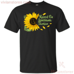 Raised On Louisiana Sunshine Sunflower Vintage T-Shirt KA12