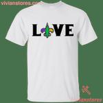Love Fleur De Lis Purple Green Gold T-Shirt KA01
