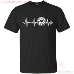 Volleyball Heartbeat Funny Volleyball Lover T-Shirt