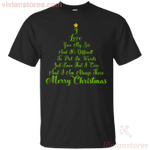 Christmas Tree I Love You My Sis Merry Xmas T-Shirt