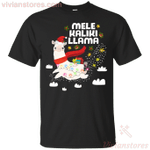 Hawaiian Llama Santa Mele Kaliki Llama T-Shirt