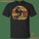 Vintage Retro Motocross Biker - Silhouette Retro T-Shirt