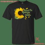 Raised On Georgia Sunshine Sunflower Vintage T-Shirt KA12