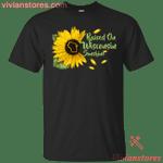 Raised On Wisconsin Sunshine Sunflower Vintage T-Shirt KA12