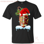 Football Santa Hat Lights Snow Christmas Holiday T-Shirt