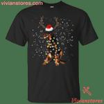 Doberman Santa Lights Christmas Dog Xmas T-Shirt