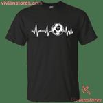 Soccer Heartbeat Funny Soccer Lover T-Shirt