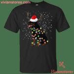 Rottweiler Santa Lights Christmas Dog Xmas T-Shirt