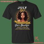July Black Girl She Slays She Prays She Beautiful T-Shirt