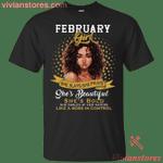 February Black Girl She Slays She Prays She Beautiful T-Shirt