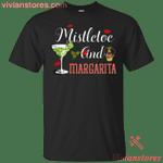 Mistletoe And Margaritas Funny Merry Xmas T-Shirt