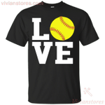 Love Softball Gift Men Women Softball Lovers T-Shirt